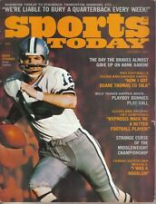 1972 Oct. Sports Today,Football, magazine, Roger Staubach, Dallas Cowboys ~ Good