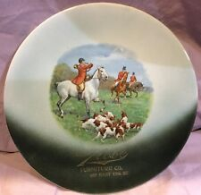 Fox Hunt Hunting Commercial Plate for Globe Furniture