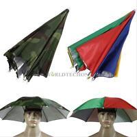 Foldable Sun Umbrella Hat Golf Fishing Camping Headwear Cap Head Hats Outdoor