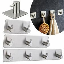 Wall Hanger Hooks Self Adhesive Stainless Steel Bathroom Robe Towel Kitchen Hook