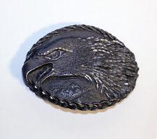 Vintage Pewter Eagle Belt Buckle, Made in USA, Vintage Belt Buckle