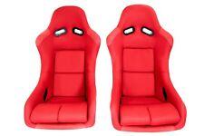 Pair 2 F1spec Type 5 Red Cloth Racing Bucket Seats Jdm