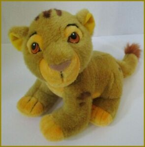 "Young Simba Lion King Plush Disney Store Stuffed 8"" Cub Baby"