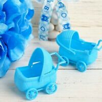 Baby Shower Christening Blue Pram Carriage Favors Table Decoration x 2 Guests