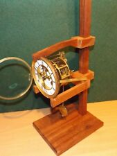 Clock movement test stand from reclaimed hardwood fits most lighter types