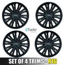 "16"" Vauxhall Vivaro Traffic Primastar Van Black Wheel Trims Hubcaps Covers QTY4"