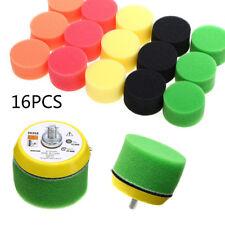"16Pcs 2"" inch Flat Polishing Buff Pad Set For Air Sander Car Polisher Thread TOP"