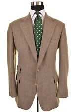 Polo Ralph Lauren Green Striped TWEED Wool Ticket Pocket Sport Coat Jacket 38 R
