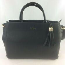 New Authentic Kate Spade Atwood Place Larson Satchel Handbag Purse Black Leather