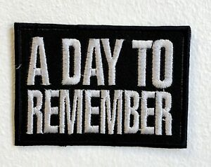 A Day to Remember Rock Band Iron/Sew on Embroidered Patch