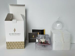 Luminara Real Flame-Effect Candle Red Berry Glass Ornament - Open Box-Pre-owned