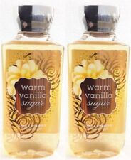 2 Bath and Body Works WARM VANILLA SUGAR Body Wash Shower Gel Shea & Vitamin E