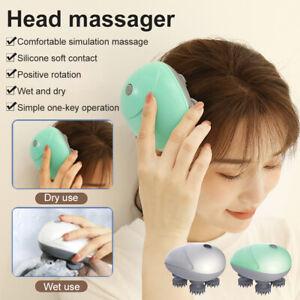 Waterproof Electric Hair Head Brain Massage Wireless Scalp Massager Fit Relax
