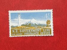 NEW ZEALAND 4c POSTAGE STAMPS LIGHTHOUSE GOVERMENT LIFE INSURANCE OFFICE MH