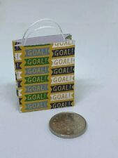 Handmade 1:12th Scale Dolls House Miniature Accessory Football themed Gift Bag 1