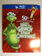 How the Grinch Stole Christmas (Blu-ray, 2009, 50th Ann 2-Disc Set) W/Slipcover