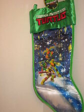 "Teenage Mutant Ninja Turtles Christmas Holiday Stocking Lenticular Image 18"" NWT"