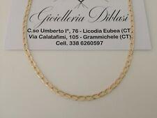 Collana uomo donna unisex in oro giallo 18 karati 750% Made in Italy