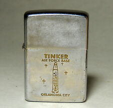 1966 vtg Zippo Lighter TINKER Air Force Base ATLAS ROCKET Oklahoma City OK Navy