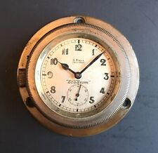 Antique Vintage Early 20th Century Car Automobile Clock Stadium 8 Day Swiss Made