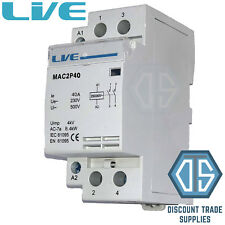 40 Amp 2 Pole Contactor AC 8.4kw Normally Open DIN Rail Mount Heating Lighting