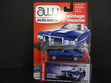 Auto World Pontiac Firebird Trans Am 1969 Blue 64052 B 1/64