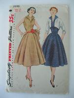 VTG 1950s Simplicity Dress & Bolero Jacket Pattern #3846 Size 14/Bust 32