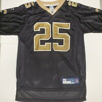 New Orleans Saints Reggie Bush Reebok Boys Black Jersey Youth Large (14-16)