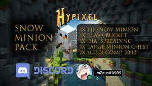 Hypixel Skyblock Snow Minion Pack - SAFEST SELLER✔👍