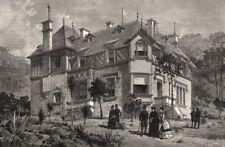 La Villa Edelweiss, de la Reine Victoria résidence à Cannes. Alpes-Maritimes, 1887
