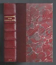CORRESPONDANCE ENTRE SCHILLER ET GOETHE EXTRAITS TRADUCTION B.LÉVY 1887 HACHETTE
