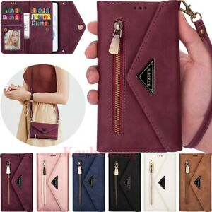 For Samsung S21 Ultra S20 S10 S9 S8 S7 Wallet Card Slot Flip Leather Case Cover