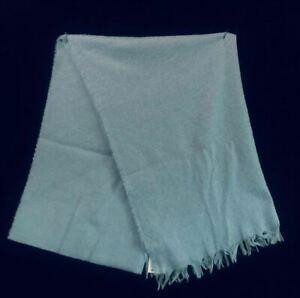 Bloomingdale's Elle Bi Italy Unisex Cashmere Scarf Wrap, Light Blue -  $150 NWT