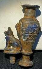 Antique Ancient Egyptian Blue lapis lazuli Deity Cat figure