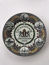 Rare Assiette J.O.  9e olympiade 1928 O.G. société céramique Maastricht Holland