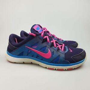 Women's NIKE 'Flex Supreme TR 2' Sz 9.5 US Runners Blue VGCon | 3+ Extra 10% Off
