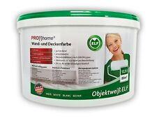 Wandfarbe PROFHOME Objektweiß Innenfarbe Farbe matt weiß ELF 12,5 Ltr max. 85 qm
