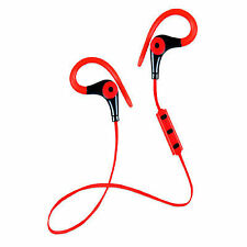 Running Earphones Sports Bluetooth micro Biwond rojo