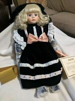 Seymour Mann Kimberly Collectable Porcelain Doll Holiday Blond New in Box Papers