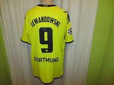 Borussia Dortmund Kappa Champions League Trikot 2011/12 + Nr.9 Lewandowski Gr.XL