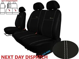 CITROEN DISPATCH Mk3 2017 - 2021 ARTIFICIAL LEATHER TAILORED FRONT SEAT COVERS