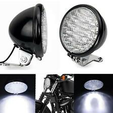 """UNIVERSAL MOTORCYCLE 5"""" LED FRONT HEADLIGHT HEAD LAMP FOR HARLEY CHOPPER BLACK"""