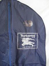 Burberry authentic vintage navy blue silver made England nylon garment bag