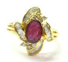 Ruby & Multi Shape Diamond Ring 18Kt Yellow Gold 1.77Ct