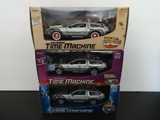 """New ListingWelly Complete Set 1:24 3 diff """"Back to the Future"""" Delorean Time Machines - Mib"""