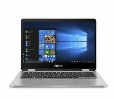 "ASUS VivoBook Flip 2-in-1 (360) 14"" Touchscreen Laptop 4GB 64GB eMMC Light Gray"