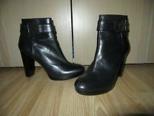 Womens TORY BURCH Black All Leather Ankle Boots Size 10M / UK 8 HARDLY WORN