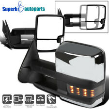 For 2003-2007 Sierra Silverado Power Heated Towing Mirrors w/Smoke LED Signal