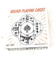 Round Playing Cards No. 7007