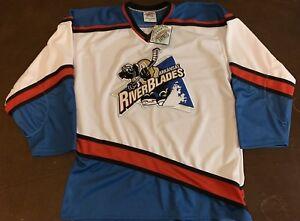 Rare Vintage ECHL Arkansas RiverBlades Hockey Jersey